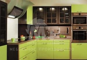 фисташковый кухонный гарнитур 1
