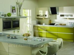 фисташковый кухонный гарнитур 2