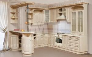 Кухонный гарнитур с барной стойкой 1