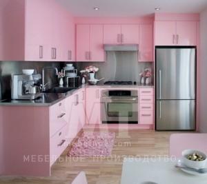 розовый кухонный гарнитур 1