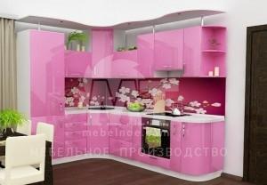 розовый кухонный гарнитур 2