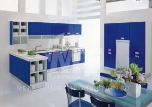 синий кухонный гарнитур 2