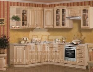 Бежевый кухонный гарнитур 1