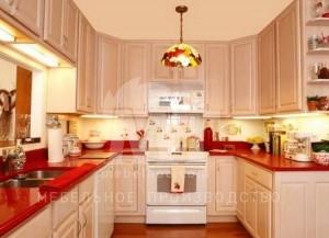Бежевый кухонный гарнитур 2