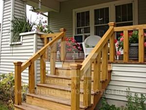 деревянная лестница для крыльца 1