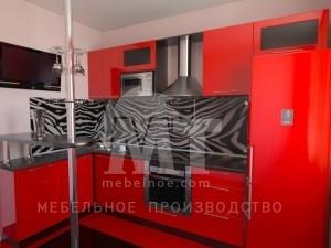красный кухонный гарнитур 1