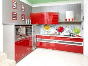 красный кухонный гарнитур 2