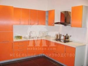 Оранжевый кухонный гарнитур 1