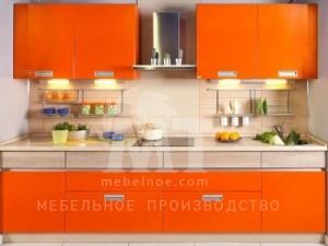 Оранжевый кухонный гарнитур 2
