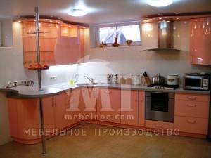 Персиковый кухонный гарнитур